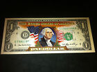 WASHINGTON COLORIZED $1 DOLLAR BILL NICE GIFT UNCIRCULATED ORIGINAL MINT NOTE !
