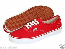 VANS CLASSIC AUTHENTIC RED MEN'S ATHLETIC SHOES NEW WITHOUT BOX