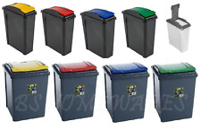 Plastic Kitchen Recycle Bin 25,50 L Dustbin Garden Waste Rubbish Recycling Home