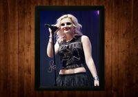 PERRIE EDWARDS SIGNED FRAMED PP A4 PRINT GIFT IDEAS LITTLE MIX X FACTOR