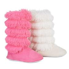 LADIES SLIPPERS BOOTS WOMENS SNUGG WINTER YETI TASSELS THERMAL WARM BOOTIE SIZE