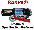 2500lb New Runva ATV UTV 12V Towing Recovery Electric Winch Kit W/ Synthetic