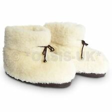 Cozy Foot 100% Pure Sheep Wool - Unisex Slippers Men & Women - Cream
