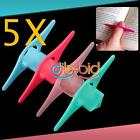 5Pcs Plastic Convenient Thumb Thing Book Page Holders Markers Bookmark