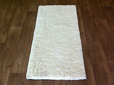 RUG SHAGGY SUPER SOFT TOUCH LUXURY THICK PILE CREAM IVORY OFF WHITE