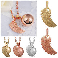 "30""L silver gold Angel Wing happy baby harmony chime ball bell pendant Necklace"