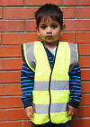 Hi Vis Yellow High Viz Childrens Vest Visibility Waistcoat Jacket Kids Childs