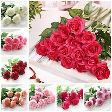 20 Head Real Latex Touch Rose Flowers For wedding And Home Design Bouquet Decor
