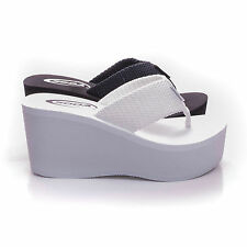 Womens Sandals Wedge Shoes Platform Heels Thong Flip Flops Soda OXLEY-S