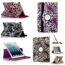 New Leopard Rotating PU Leather Smart Case Cover For Apple iPad 2 3 4 5 mini Air
