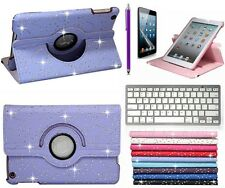 For ipad 5 ipad Air 360 Rotate Bling Leather Case Cover with Bluetooth Keyboard
