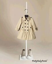 NEW GIRLS Kid's Clothes Beige double-breasted Trench Coat Wind Jacket Outwear