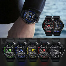 Hot Multi-Function Cool S-Shock Sports Watch Led Analog Digital Waterproof Alarm