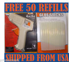 GLUE GUN WITH 50 FREE GLUE STICKS HOT MELT ARTS CRAFT