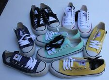 CANVAS SNEAKERS | WOMEN'S LOW FLATS/LACE-UPS | NEW | RUBBER SOLES | SIZE 6, 8, 9