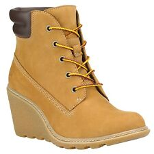 Timberland Women's Amston 6 inch Wedge Heels Boots 8251A Wheat  All Sizes