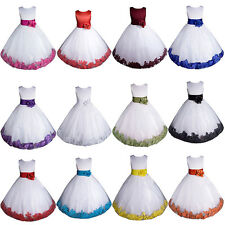 Flower Girl Dress Communion Pageant Easter Wedding Formal Bridesmaid GT1008