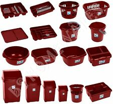 Red Chilli Kitchen Accessories Plastic Swing Bin Bowl Drainer Tray Bucket Basket