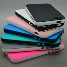 SOFT SILICONE GEL BUMPER TPU CASE COVER FOR IPHONE 6 5 5S 5C 4 DUAL COLOR RUBBER