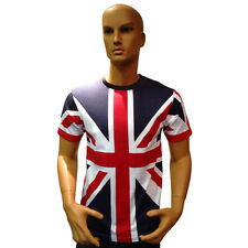 Tour Collection Union Jack Flag T-Shirts London 2014 Team GB Mens Clothing Top
