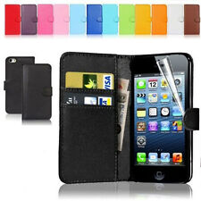 New Wallet Flip PU Leather Phone Case Cover For Apple iPhone Samsung Galaxy Free