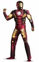 The Avengers Iron Man Mark VII Muscle Adult Costume Size 42-46 Brand New - 43686