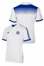 Core Chelsea Fc Adidas Polo Maillot Blanc 2014 15 S/S Homme Coton, polyester