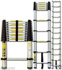 TELESCOPIC 3.8M ALUMINIUM DIY FOLDABLE EXTENDABLE BULIDERS MULTI PURPOSE LADDER