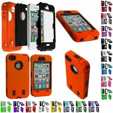Protective Impact Housing Defender Hybrid Armor Case+Protector for iPhone 4/4S