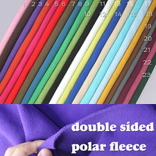 Double-sided Polar fleece fabric, anti-pilling, Hoodies, blankets, coats, BTY