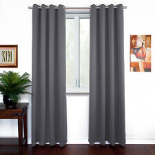 NEW Thermal Insulated BLACKOUT Curtains Set Grommet Panels Lenght 63 84 90 96