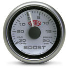 SAAS - 2 5/8 inch Turbo Boost Gauge - White face