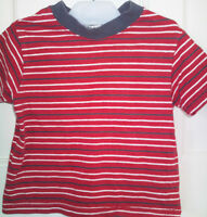Baby  Boy George Red /Blue  Stripe T- Shirt 100% Cotton  Age 6-12  Months
