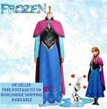 Anna Frozen Neve Regina Adulto Donna Cosplay Costume Abito UK