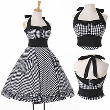 Vintage Rockabilly 50's dresses pin up Swing dress Formal Cocktail Evening Party