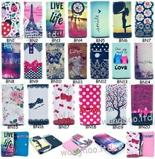Fashion Cartoon Universal Wallet Flip PU Leather Cover Case For Various Phone