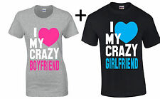 I Love My Crazy Boyfriend Girlfriend Couple T Shirt Valentine's Day Gift For Her