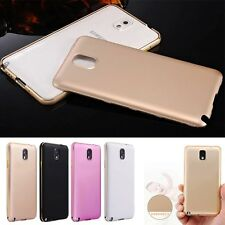 Luxury Ultra Thin Aluminum Metal Bumper + PC Back Case Cover For Samsung Galaxy