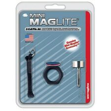 Maglite AA Mini Mag Flashlight Accessory Pack with Clip Loop Anti-Roll AM2A016