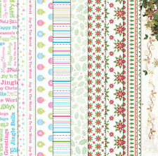 "Craft Creations Scrapbook Paper Xmas Christmas Designs On White 12"" x 12"" 120gsm"