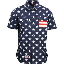 DGK Men Americana Short Sleeve Woven Shirt blue