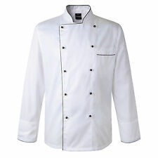 Newshine Unisex Phoenix Piping Apparel Executive Chef Coat White Chef Jacket