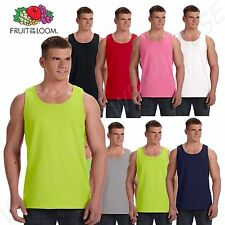 Men's Plain T-Shirts Tank Top Muscle Gym Sleeveless Tee S~XL A-Shirt Cotton