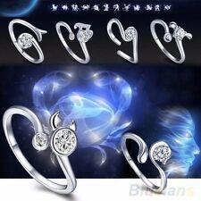 Fine Jewelry Charm Gift For Women&Men Silver Bight 12 Constellations Ring