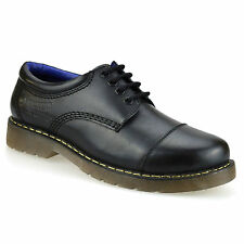 Mens New Leather Smart Casual Lace Up Air Cushioned Sole Gibson Work Shoes Size