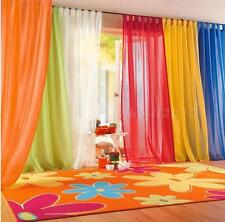 Valances Colors Floral Tulle Voile Door Window Curtain Drape Panel Sheer