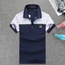 Fashion Famous New Design Men print Polo Shirts cotton short sleeve TShirts Slim