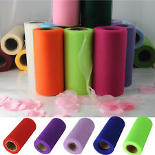 "TULLE FABRIC SPOOL ROLL 1 Roll 6""X25 Yard Nylon TUTU NETTING WEDDING BRIDAL"