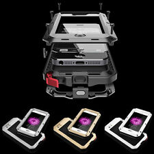 Waterproof Shockproof Gorilla Glass Metal Case Cover for iPhone 5S 5C 4S 6 6plus