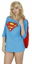 Juniors DC Comics Superman Blue Night Gown Pajama Dress with Attachable Cape